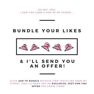 Other - BUNDLE AND SAVE 💗